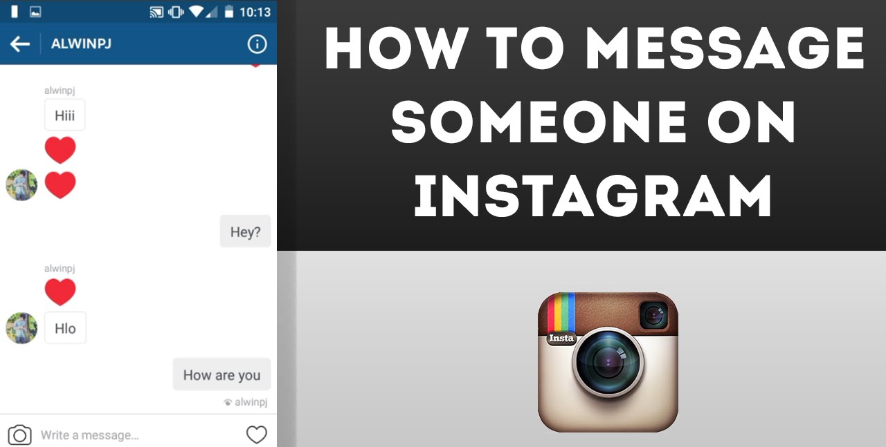 How to message on Instagram